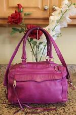 (Z) Rebecca Minkoff  REGAN Purple Pebbles Leather Satchel Bag (PU150