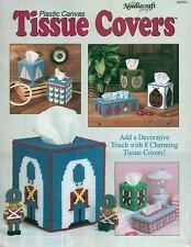 NEW TISSUE COVERS APPLE LADYBUG SAILBOAT ELEPHANT PLASTIC CANVAS PATTERN BOOK
