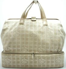 Chanel new travel line sports Bag bolso valija travel Bag XL beige logotipo