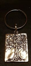TREE OF LIFE KEYRING TIBETAN SILVER - RECTANGLE