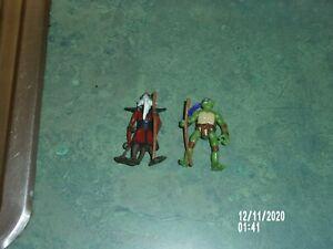 "TEENAGE MUTANT NINJA TURTLES TMNT 2006 MIRAGE STUDIOS 2"" DON & SPLINTER LOT"