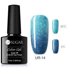 UR SUGAR UV Gel Polish Thermal Color Changing Glitter Shimmer Soak Off Rainbow