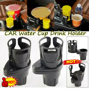Hot 2 in1 Multifunctional Vehicle-mounted Water Cup Drink Holder Adjustable US