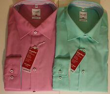 OLYMP Maschinenwäsche Klassische Herrenhemden im Kentkragen-Stil aus Baumwolle
