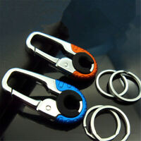 NEW Stainless Steel Keychain Key Ring Clip Hook Carabiner Buckle Climbing Tools