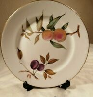 "ROYAL WORCESTER EVESHAM VALE SIDE BREAD PLATE 6.75/"" Blackberries Peaches ENGLAND"