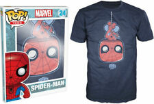 Funko Pop! Tees: Marvel - Upside Down Spider-Man T-Shirt LARGE