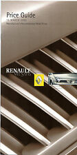 Renault Vel Satis Specification 2002 UK Market Brochure
