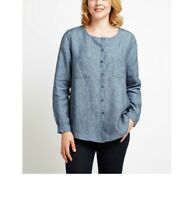 East Linen Pocket Detail Shirt, Dusk-- Various Sizes ---  RRP £69