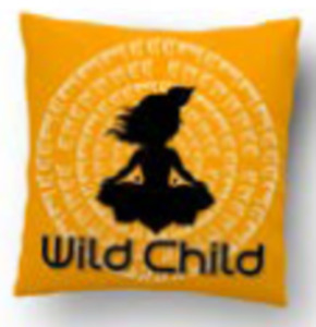 Wild Child Meditation Novelty Pillow With Cushion Insert Included
