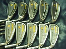 Honma Mens LB606-G New H&F 18K gold golf iron 3stars Feather Weight Great!