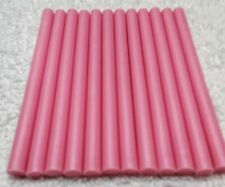 "12 Pink Mini Glue Sticks 4"" Length 5/16 (.25)"