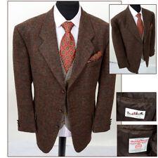 HARRIS TWEED 44S Mens Wool Windowpane Checked Wedding Country Hacking Jacket