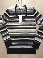 NWT Women's Calvin Klein Striped Knit Sweater - Medium