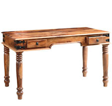Writing Desk With 2 Drawers Made From Sheesham Wood Indis Jali Collection SH73