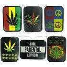 Assorted Marijuana Leaf Cannabis Design Tobacco Stash Box Tin Cigarette Airtight