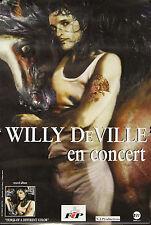 """Willy DeVILLE (EN CONCERT)"" Affiche originale 1999 (Photo Guy PEELLAERT)"
