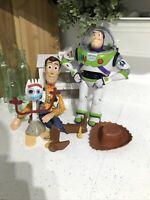 Disney Pixar Toy Story Bundle Pull String Woody Buzz Lightyear & Forky VGC!