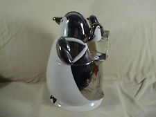 Pair Department 56 porcelain Penguin Carring Her Babies On Ice Cubes Cookie Jar