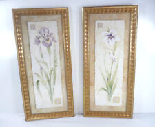 Iris and Orchid Flower Vertical Prints by Pamela Gladding Framed Art #MY853