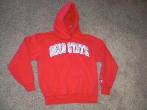 OHIO STATE red sewn Champion Hoodie Sweatshirt men's Medium