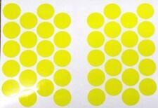 40 Fluorescent Yellow Reflective Vinyl Dots Circles 3/4 inches diameter