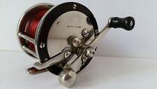 New listing Scarce Vintage 250yd Marbelized Side Plates Cozzone Free Spool Fishing Reel