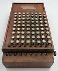 Felt Tarrant Comptometer 1891 Wooden Key Driven Adding Machine Early Functioning