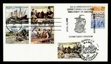 DR WHO 1992 CHRISTOPHER COLUMBUS VOYAGE FDC BLOCK C200384
