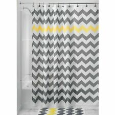 With 12 Hooks 180*180cm Waterline Vibrant Grey Stripe Polyester Shower Curtain