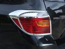 Chrome Rear Light Tail Lamp Cover Trim 2pcs for Toyota Highlander 2008 2009 2010