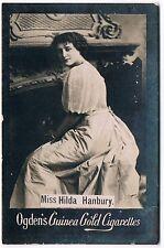 Ogden's Guinea Gold Cigarettes Miss Hilda Hanbury Base M Large Tobacco Card