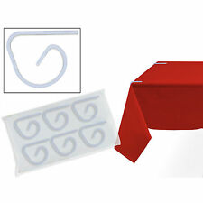 24 PLASTIC TABLECOVER CLIPS HOLD YOUR TABLECLOTH IN PLACE FOR YOUR PARTY WEDDING