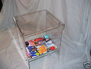 PERSPEX/ ACRYLIC SIDE TABLE /MAGAZINE RACK/COFFEE TABLE