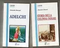alessandro manzoni - 2 libri - adelchi - storia della colonna infame - la spiga