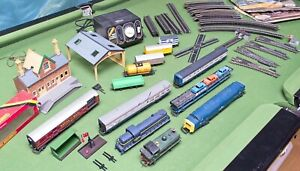 Hornby Lima AHM 00 Job Lot Track Locos Wagons Cars Points 1980s