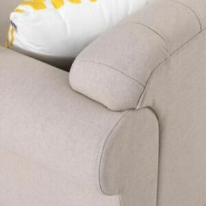 Home Decor French Button Linen Tufted Chesterfield Sofa Couch Left Chaise Lounge