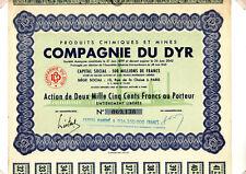 Action Produits Chimiques et Mines Compagnie du Dyr