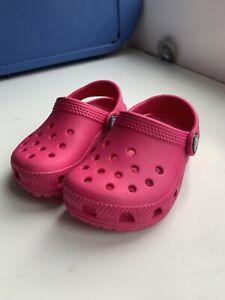 Crocs Pink Infant Girl, Size 6, Excellent Condition