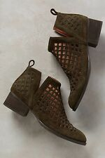 Jeffrey Campbell Taggart Booties Size 10 Green Women New MSRP $200 Anthropologie