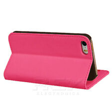 Funda Carcasa Tarjetero para iPhone 5 Color Fucsia Piel Polipiel i79