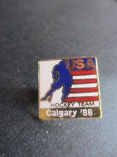 1988 CALGARY OLYMPIC PIN USA HOCKEY TEAM PIN WINTER OLYMPICS GAMES