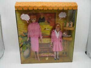 Knitting Pretty Barbie And Skipper Doll Giftset Gold Label 2007 1 of 10,000 NIB!