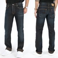 Nudie Herren Regular Straight Fit Jeans Hose Dunkelblau - Slim Jim Black Ink