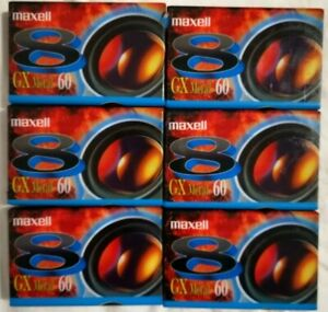 6 x MAXELL GX METAL 60 - CAMCORDER VIDEOCASSETTE TAPES SEALED