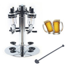 4/6Bottle Liquor Dispenser Wall Mounted Beverage Stand Drink Beer Wine Dispenser