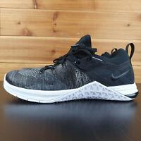 Nike Womens Metcon Flyknit 3 Black Matte Silver White Training Shoes Size