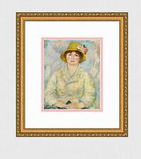 "Pretty 1958 RENOIR Vintage Color Print ""Madame Renoir"" Signed GALLERY FRAMED COA"
