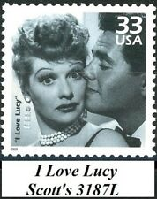 I LOVE LUCY Desi Kissing Lucy - Low Production MNH Stamp from 1999 Scott's 3187L