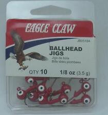 Eagle Claw JB0518AH Red 1/8 oz Ballhead Jigheads 10CT 20150